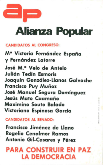 1980 - Alianza Popular