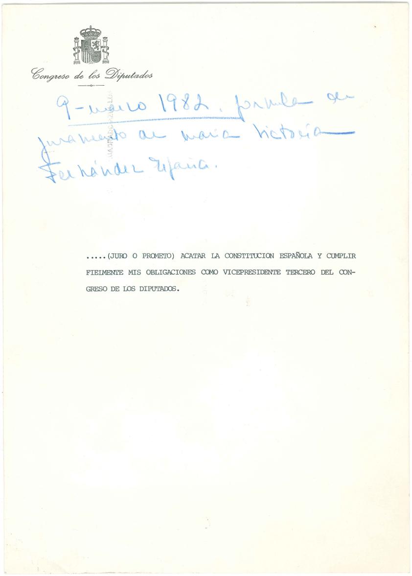 1982 - Juramento de la Constitución
